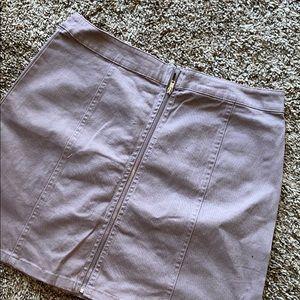 Lavender Zip Up Skirt From Forever 21